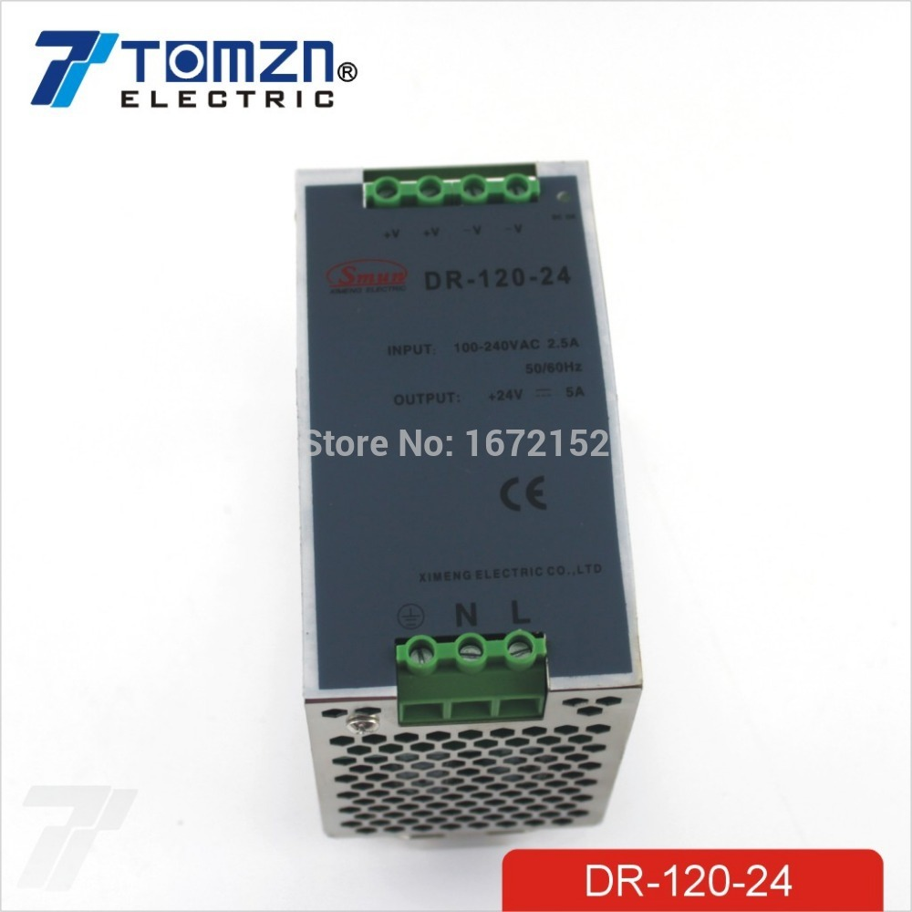 120W 24V 5A Din Rail Single Output Switching power supply<br>