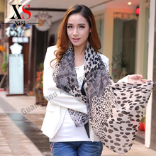 Hot Sale Pretty Leopard Scarf Spring Shawl Sheer Scarves Designer Printing Spring Oversized Pashmina For Women Sexy