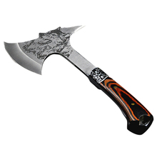 Axe multi functional tomahawk Outdoor mountain camping ax survival machete camping hatchet with wood handle tools open DAA010