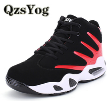 QzsYog High Quality Men Women Basketball Shoes Air Cushion Sneakers Sports Athletic Trainers Lovers High Top Basketbol Ayakkabi(China)