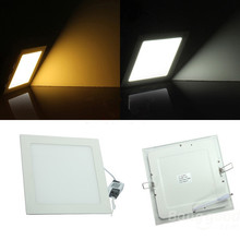 Ultra thin design 3W / 6W / 9W / 12W / 15W /25w LED ceiling recessed grid downlight / slim square panel light free shipping