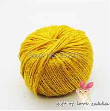 Zakka 100 meter/roll Yellow color Twine Waxed Jute Cord,baker twine .Hemp Jute Rope for Packing/Photo Decor, Tag lanyard(China)