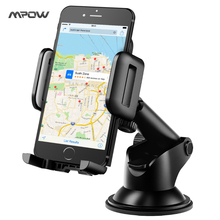 Mpow new Adjustable Dashboard Cellphone Mount Holder Strong Sticky Gel Pad 360 degree Rotation Car phone holder for cell phones(China)