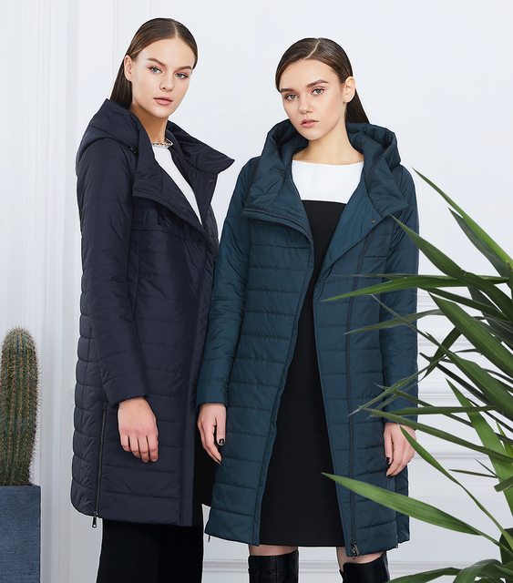 Jacket with a curve zipper | high-quality thin cotton padded jacket