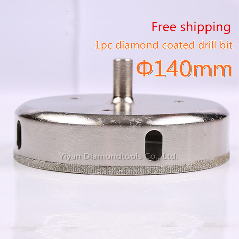 1pc/lot 140mm diamond core drill bit glass hole opener cutter for glass ceramic tile porcelain marble hole drilling<br>