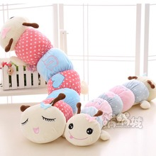 80cm Giant Colorful Caterpillar Plush Toy Super Cute Stuffed Doll Kid Toy Long Sleeping Pillow Gift for Girlfriend