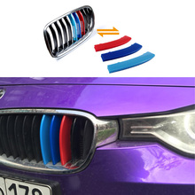 For BMW 3 Series F30 2013 TO 2015 Car accessories Front Grille Trim Sport Strips Cover Sticker 3 Colors ABS 3D M Car Styling