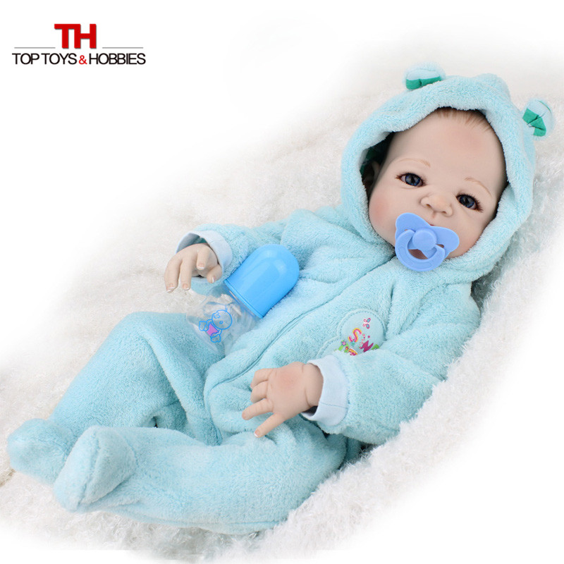 55cm Full Body Silicone Bebe Doll 22 Inch Realistic Silicona Vinyl Boneca Reborn Baby Boy Dolls Newborn Doll Children Girls Toys<br><br>Aliexpress