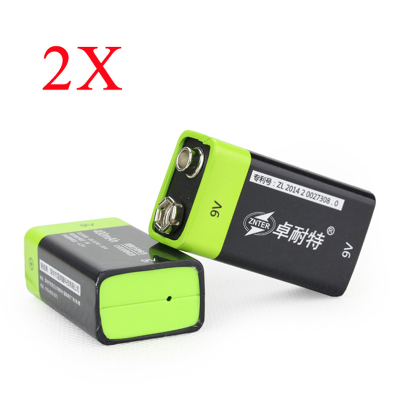 2PCS ZNTER S19 9V 400mAh USB Rechargeable 9V Lipo Battery For RC Camera Drone Accessories<br><br>Aliexpress