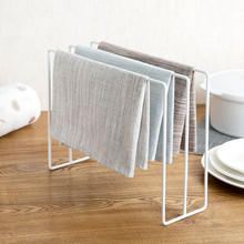 Metal Dishcloth Holder Wiping Duster Cloth Hanger Rag Storage Rack Kitchen Shelf