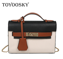 TOYOOSKY Womans Bag 2017 Kelly Bag Shoulder Handbags Litchi Grain PU Leather Messenger Bolsos Mujer Sac Main Exempt Postage
