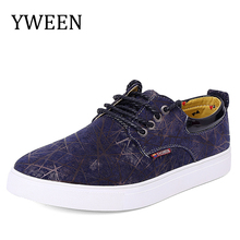 YWEEN 2017 New Men's Jean Canvas Casual Shoes Men British Trend Style Oxford Shoes Man shoes Large size