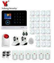 Yobang Security-Wireless Wifi Home Security Alarm System Support IP Camera Surveillance Wireless Stobe Siren Smoke Detector(China)
