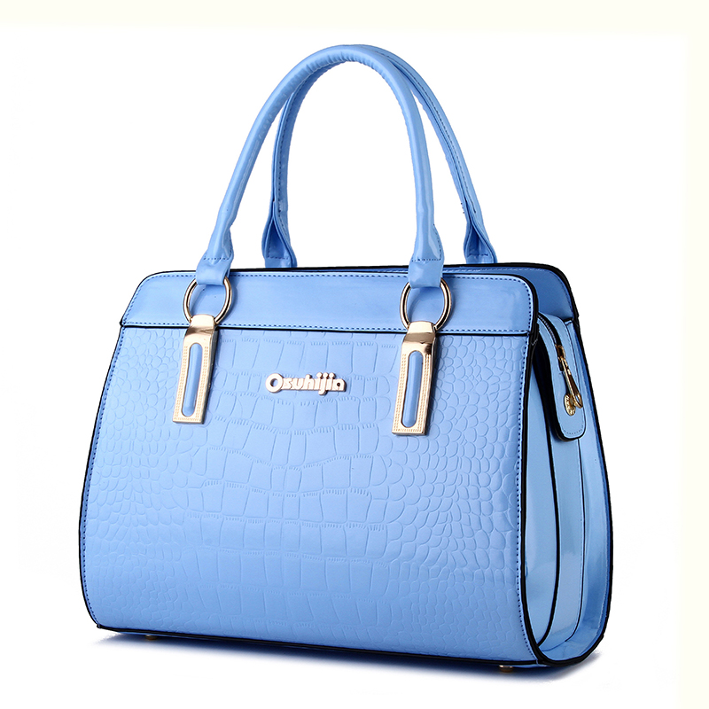 European and American style women patent leather handbag stone pattern shoulder bags KLY8870bag<br><br>Aliexpress