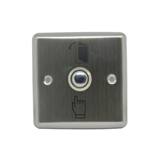 10 PCS 86mm Surface Aluminium Alloy Door access button Emergency alarm Push button auto restoration Panic alarm release(China)