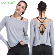 LANTECH Women Yoga Shirt Sports Running Sportswear Training Beauty Back Fitness Exercise Gym Shirt Clothes Long Sleeve Jerseys(China)
