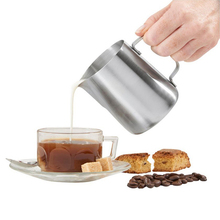 Practical Japanese Stype Thicken Stainless Steel Milk Frothing Pitcher (Silver,350ml)