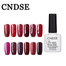 CNDSE Professional Gel Nail Polish Red Diamond Series Gel Varnishes Lacquer Hot Nails Glue Varnish Semi Permanents Be UV And LED