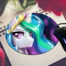 Pony Art Print Mouse Pad Anti-Slip Round Mousepad Gift Gaming Speed Mice Mats