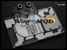 WinfMOD Bykski GPU/VGA Water Cooling Block for ASUS R9-290X 290 390X DC2 Graphics Cards----ARCYLIC TOP(China)