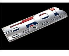 2011-2015  Mustang &  5.0 Coyote Chrome Red White Blue Emblem