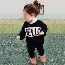 Baby Girls Boys Clothes Sweater New Fashion Baby Infant Winter Autumn HELLO BYE Print Knitted Sweater Kids Clothes