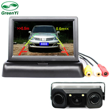 "Auto Video Parking Sensor With Rear View Camera + 4.3"" Car Parking Monitor , Sound Alarm and Display Distance"