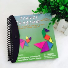 150Puzzles Magnetic Mathematic Tangram Toys Children Kids Gift Challenge IQ Book Educational Magic Book