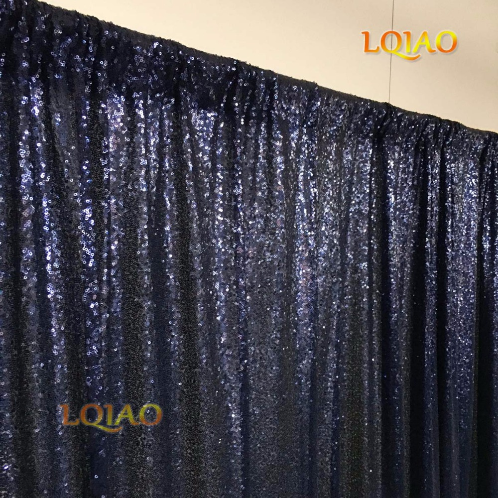 Navy Blue Sequin Backdrop-005
