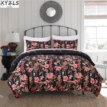 XYZLS US/UK/RU Size Home Polyester/Cotton Bedding Set Single Queen Double King Sanding Bed Linings Plant Bedding Kit
