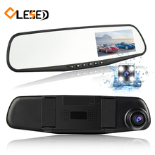 Dual Lens Vehicle Car DVR Rearview Mirror Auto DVRs Cars Camera Dash Cam Camcorde 1080P Night Vision Video Recorder Registrator(China)