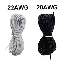 2 Pin 10M 20M 20AWG 22AWG Electric White Black Extension Wire LED power Cable for single color strip(China)