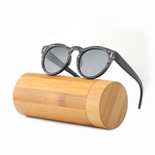 HINDFIELD Luxury Bamboo Sunglasses Women Polarized Brand Designer Vintage Round Wood Frame Sun Glasses Female Gafas De Sol(China)
