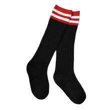 5 Pieces/lot Baby Socks Set Baby High-Knee Socks Girls Warm Football Strips Sock Cotton School Soccer Boots Sport Long Socks