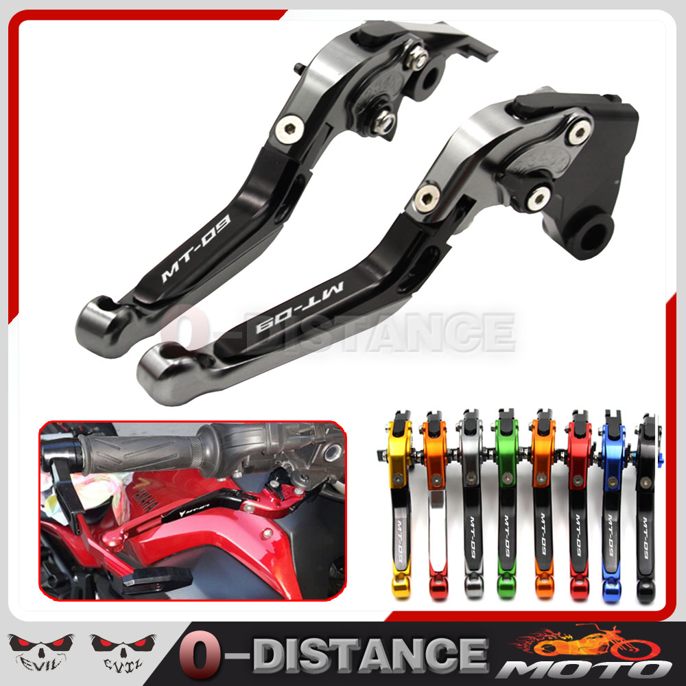 For YAMAHA MT-09 MT09 Tracer 2014-2015 Motorcycle Adjustable Folding Extendable Brake Clutch Levers logo MT-09 5 colors<br><br>Aliexpress