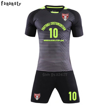 Top quality soccer jerseys 2017 2018 Adult customized football jerseys set kits men DIY soccer uniforms training suits new(China)