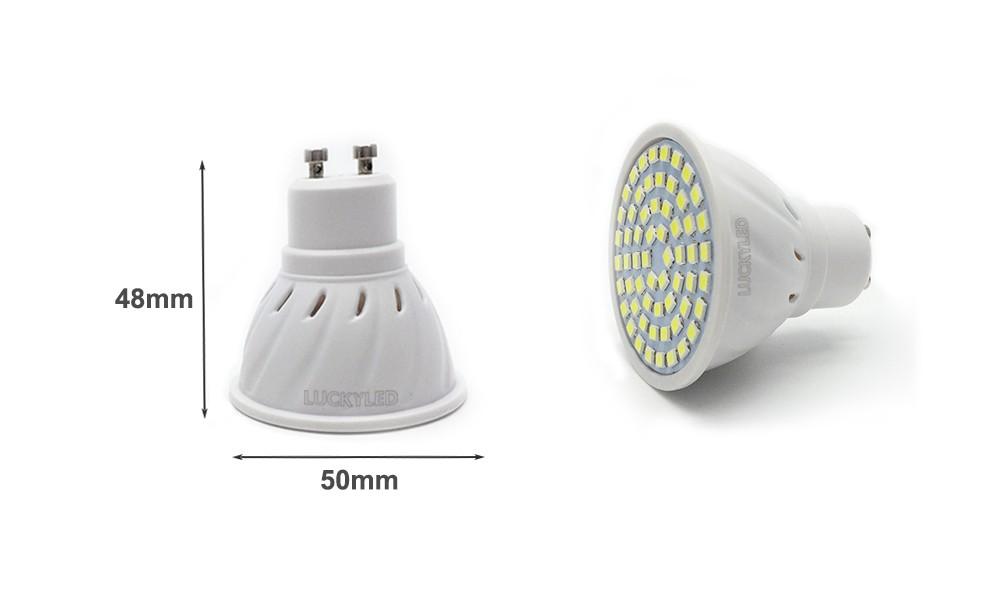 led spotlight gu10 size