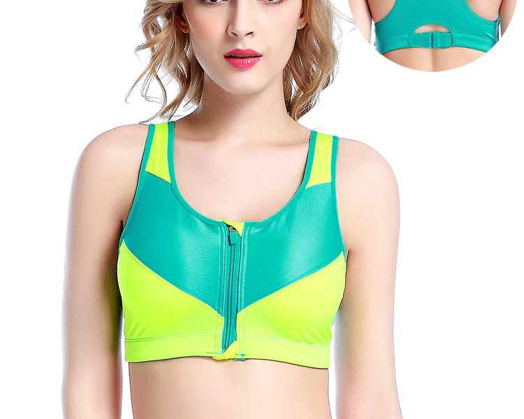 Sports Tops Female Zipper Push Up Sports Bras Fitness Running Yoga Padded Breathable Shockproof Gym Vest Tops Womens Sport Bh --750x750