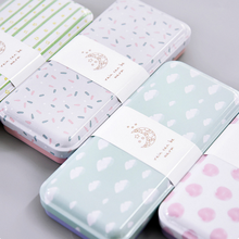 1 Pcs Cute cartoon iron tinplate large stationery case tin pencil box pencil case creative student gifts learning stationery(China)