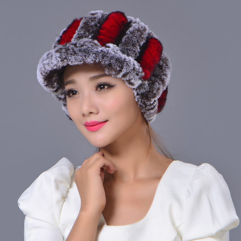 Mink Fur Women Winter Hats With Natural Real Fur Female Cap Real Knitted Caps Pineapple Hat Hold Ears Mink Fur Hat For WomenОдежда и ак�е��уары<br><br><br>Aliexpress