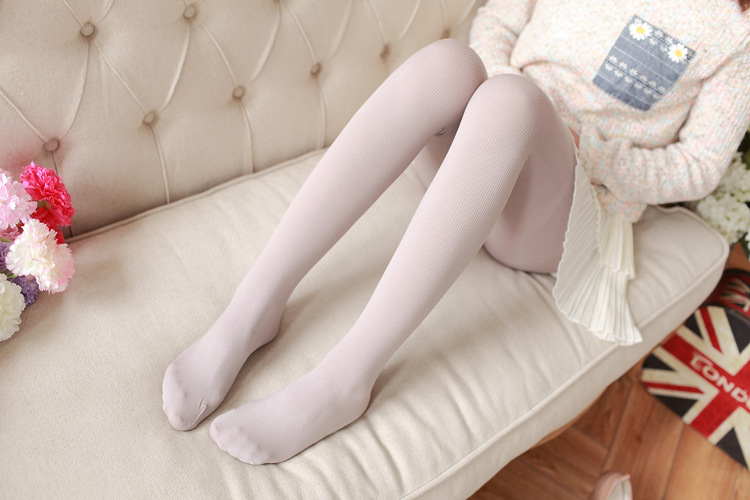 New Women's Tights, Stripe Velvet Hosiery, Solid Candy Color, Standard Stockings Pantyhose 23