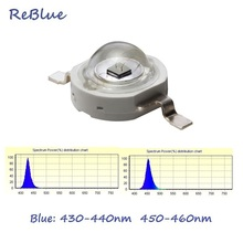 25Pcs ReBlue 3w-led-diode UV Led 390nm 400nm 3W Led Diode High Power Chip Blue Chip 440nm 450nm 460nm Lamp SMD Powerful Led bulb
