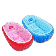 Summer Children Bathtub Inflatable bath tub Child Tub Cushion + Foot Air Pump Warm Winner Keep Warm Folding Portable Bathtub(China)
