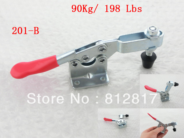 201B 90Kg 198 Lbs Holding Capacity Flange Base Horizontal Toggle Clamp<br><br>Aliexpress