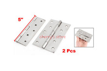 "Best Promotion Wholesale Price 2 Pcs Silver Tone Stainless Steel Home Furniture Door Hinge 5"" Long"