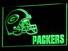 b320 Green Bay Packers Helmet LED Neon Sign with On/Off Switch 20+ Colors 5 Sizes to choose 20+ Colors 5 Sizes sent in 24 hrs(China)
