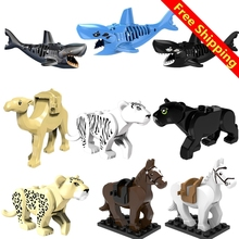 Compatible With Small Bricks Animal Figures Model Building Blocks Accessory Educational Handmade Toys Gifts For Children(China)