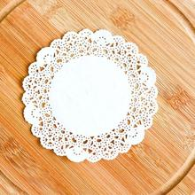 "200pcs 4""=115mm White Round Lace Paper Doilies / Doyleys,Vintage Coasters / Placemat Craft Wedding Christmas Table Decoration(China)"