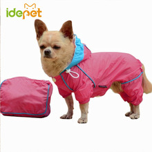 Newly Dog Raincoat Waterproof Rain Coat Clothes for Dogs Outdoor Walking Pets Rainy Wearing Clothing Hoodie Apparel 25(China)