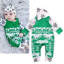 Cute Green Newborn Baby Boy Girl Casual Romper Jumpsuit Sleepsuit Hat Outfits Clothes 0-18M  for Christmas  Wear
